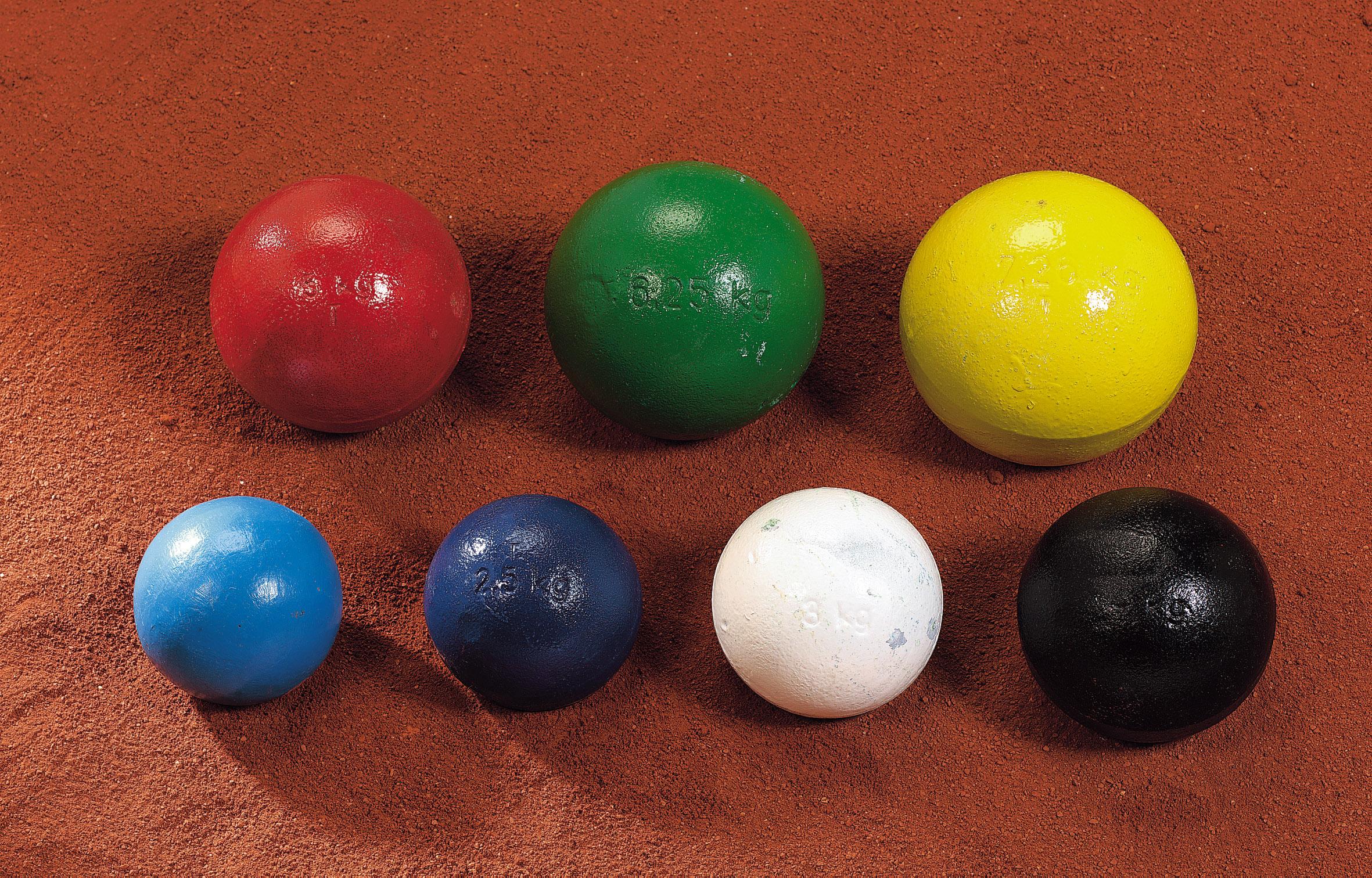 Trainings-Stoßkugel 2,5 kg d'blau