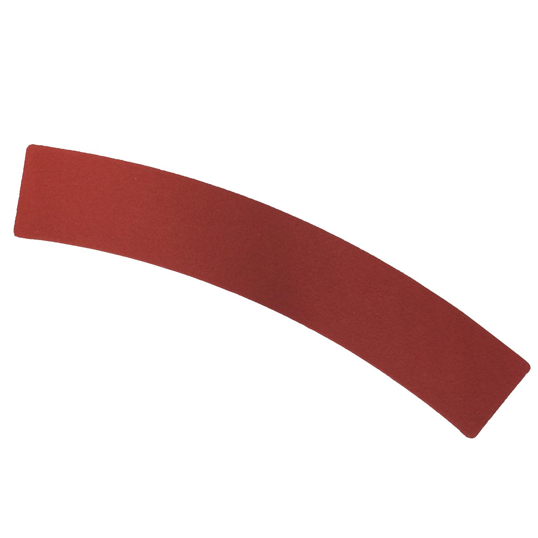 Bodenmarkierung Kurve rot