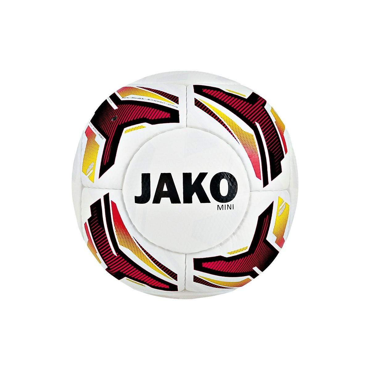 JAKO Miniball weiß/schwarz/rot/gelb
